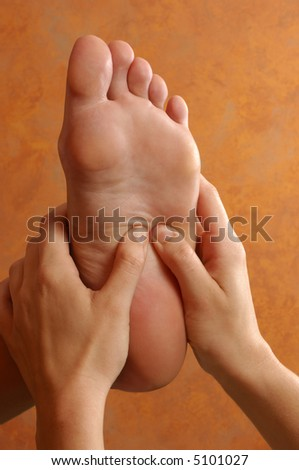 Spa Reflexology Foot Massage - stock photo