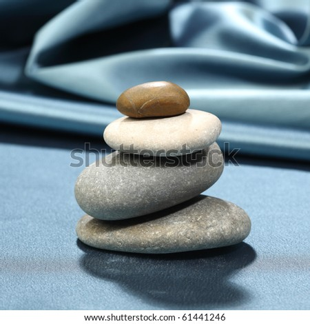 spa rock on ripled background - stock photo