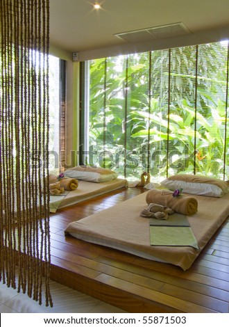 Spa Room Thailand - stock photo