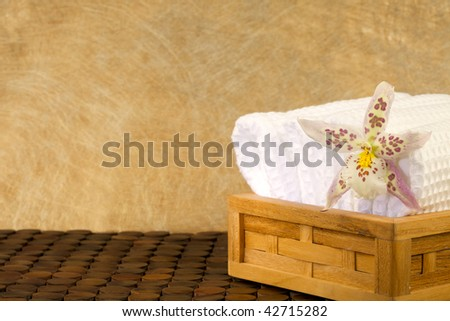 spa scene with flower - stock photo