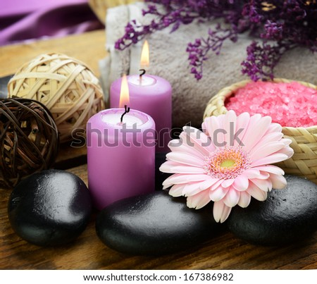 Spa set for massage and body care  - stock photo