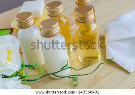 Spa set (Massage oils , soap , towels)