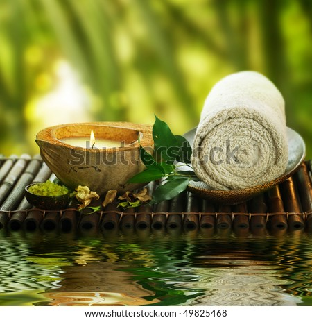 Spa Setting outdoor - stock photo