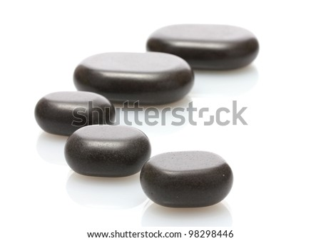 Spa stones isolated on white - stock photo