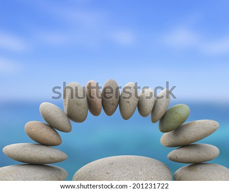 Spa Stones Meaning Equal Value And Calmness - stock photo