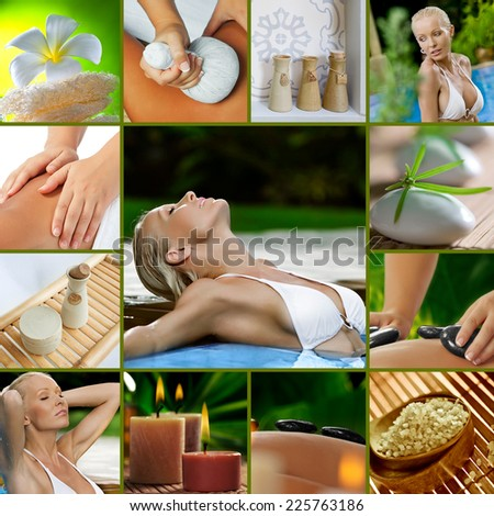 Spa theme  photo collage composed of different images - stock photo