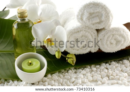 Spa treatment. Aromatherapy essence. - stock photo