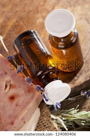 Spa treatment. Aromatherapy.Essent ial Oil - stock photo