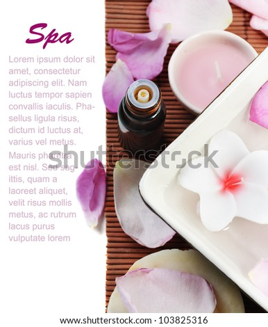 Spa treatment concept - stock photo