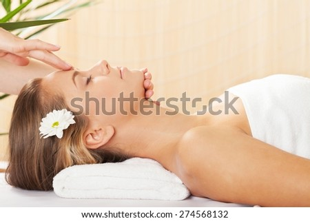 Spa Treatment, Massaging, Wellbeing.
