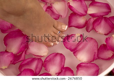 Spa Treatment (pedicured foot) - stock photo