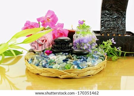 spa treatment  tools - stock photo