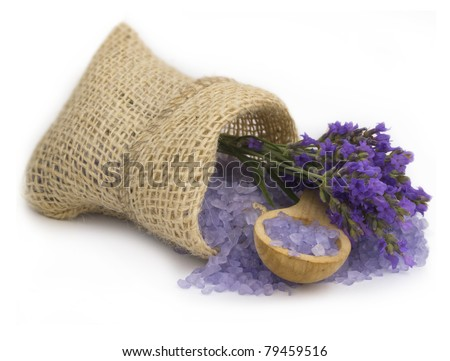 spa treatment with lavender - stock photo