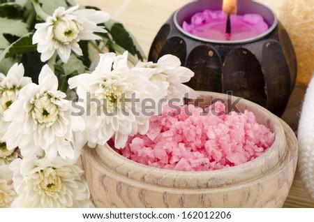 Spa treatment with sea salt.  - stock photo