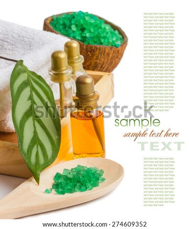 spa treatments and personal hygiene products - stock photo