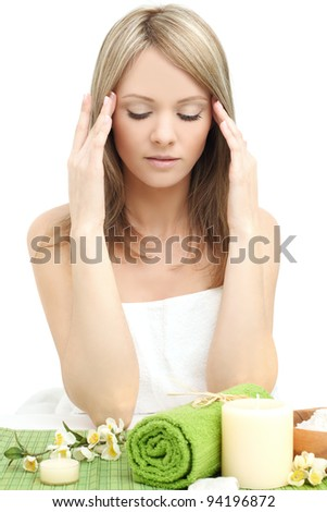 Spa woman - young beauty - stock photo
