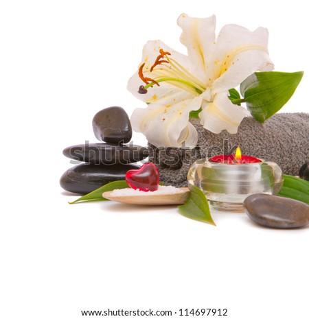 Spa Zen Stones - stock photo