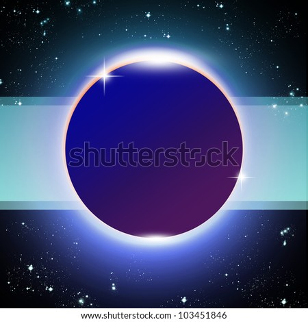 Space and star abstract background