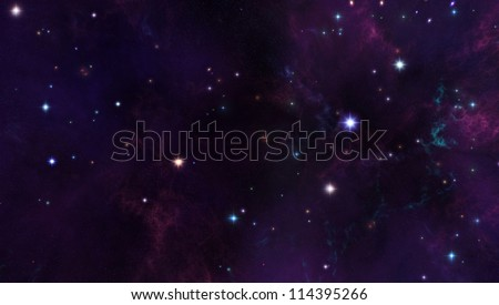 space background - stock photo