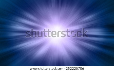 Space background, Blue sunrise and star, view of earth from space - stock photo