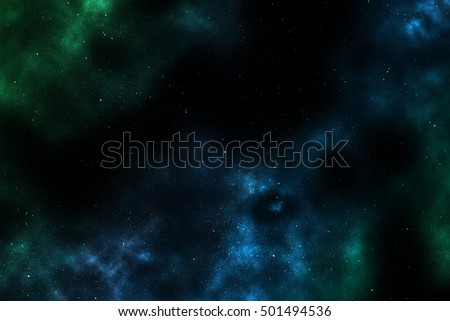 Space Background With Colorful Galaxy Cloud Nebula