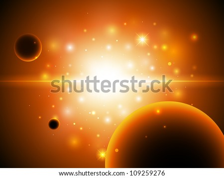 Space background with stars. - stock photo