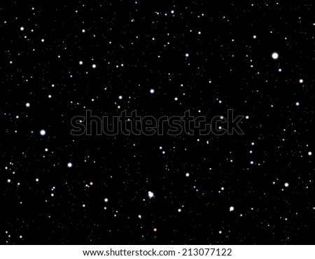 Space background with stars  - stock photo