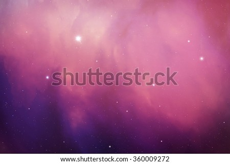 Space digital art background with real nebula and stars effects. - stock photo