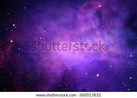 Space digital art background with real stars and nebula. - stock photo
