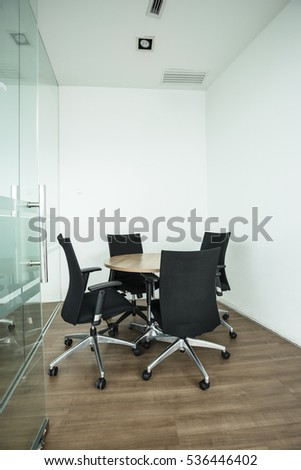 Space for business meeting in the office