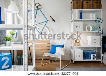 Space for young person in minimalist style
