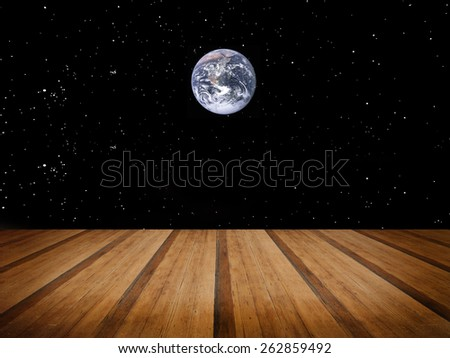 Space galaxy background. Elements of this image furnished by NASA - stock photo