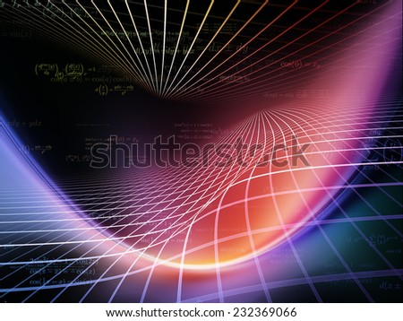 Space Geometry series. Composition of Math, geometry and design elements on the subject of science, technology and education - stock photo