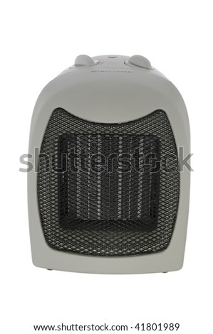 Space heater isolated on white with clipping path - stock photo