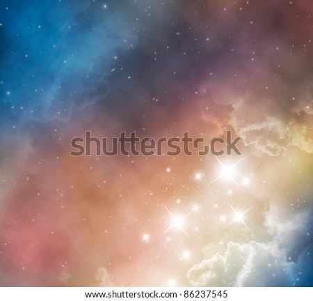 space nebula background - stock photo