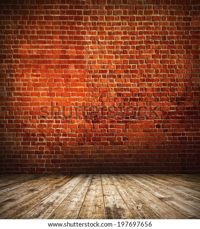 Space of vintage grungy paint black, red, brown brickwall cement background, stone old dark stucco gray texture as a retro pattern wall in rural room from stonework technology, architecture wallpaper - stock photo