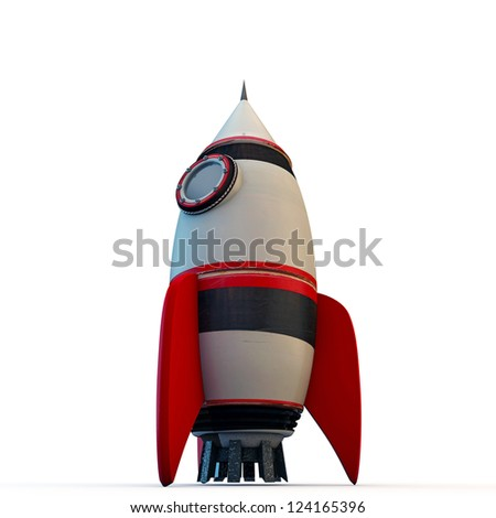 space rocket isolated on white background