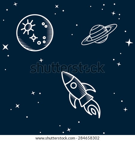 Space seamless. Vector Illustration - stock photo