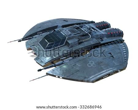 space ship - stock photo