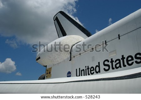 Space Shuttle at Kennedy Space Center, Florida - stock photo