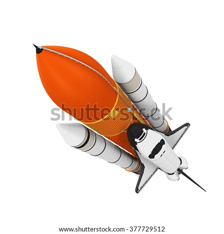 Space Shuttle Isolated - stock photo