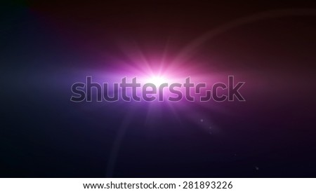 space star flare magenta color lens flare special effect - stock photo