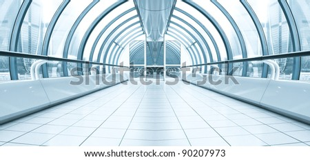 spacious business hall - stock photo
