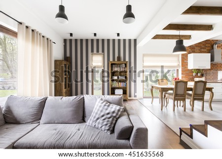 Spacious Stylish Lounge Area Connected Dining Stock Photo (Edit Now ...
