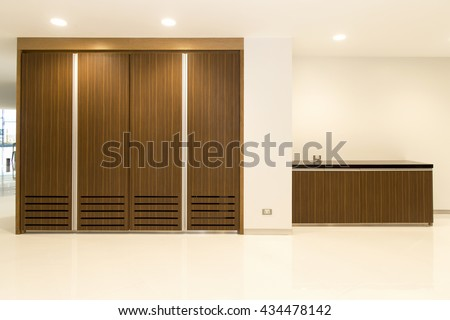 Spacious wardrobe interior - stock photo