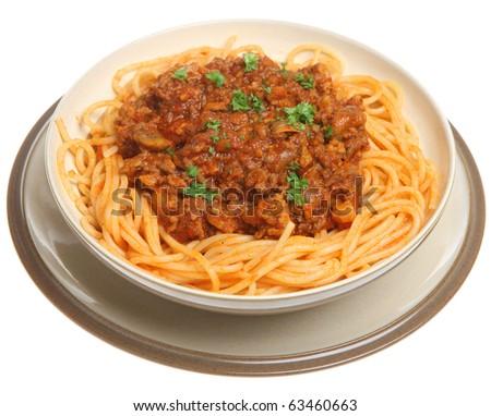 Spaghetti bolognese. - stock photo