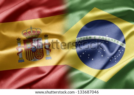 Spain and Brazil - stock photo