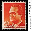 SPAIN - CIRCA 1990: A stamp printed in Spain shows image portrait Juan Carlos I, King of Spain, circa 1990. - stock photo