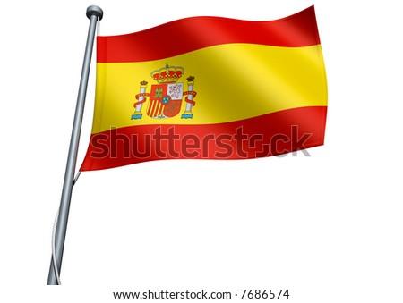 Spain Flag - stock photo