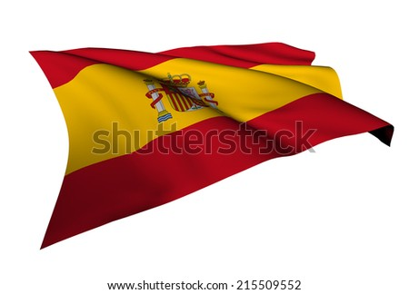 Spain flag - collection no_5  - stock photo